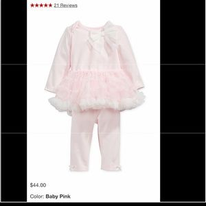 First impressions baby girl pink tutu top